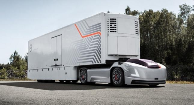 Volvo-მ წარმოადგინა ავტოპილოტი ელექტრო-სატვირთო კაბინის გარეშე