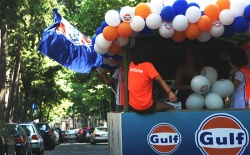 Gulf gave the gifts to the citizens in the streets of Tbilisi